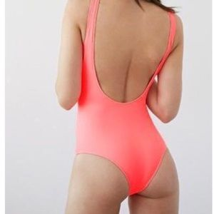 Scoop back one piece swimsuit